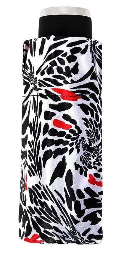 Paraguas Mini Plegable Estampado Rojo y Negro. Paraguas Vogue