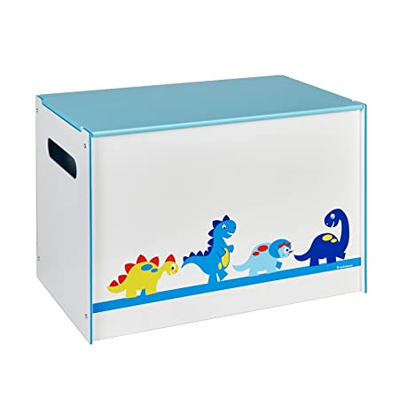 Dinosaurs Kids Toy Box   Childrens Bedroom Storage Chest With Bench Lid By  HelloHome