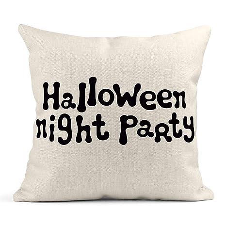 Kinhevao Throw Pillow Brush Fiesta de la Noche de Halloween ...