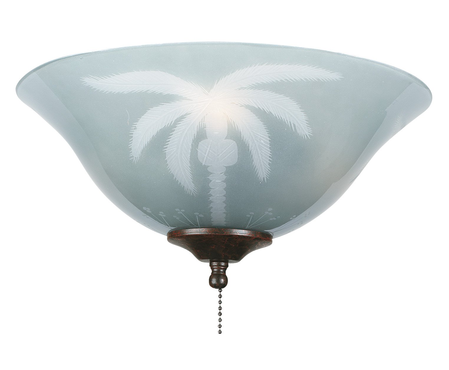 Fanimation G210 Glass Bowl, 13-Inch, Etched Tropical