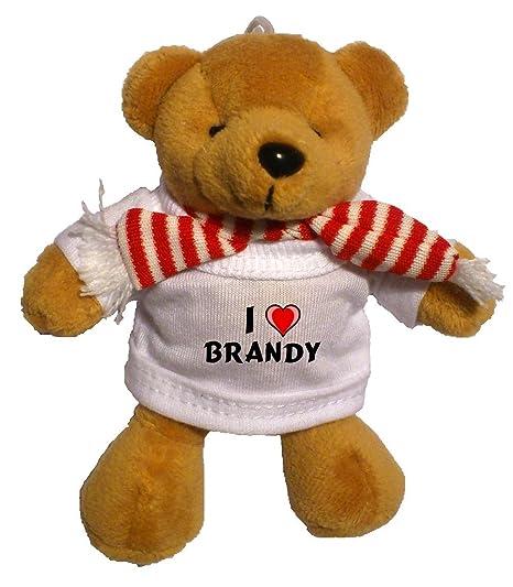Llavero de oso marrón de peluche con Amo Brandy en la ...