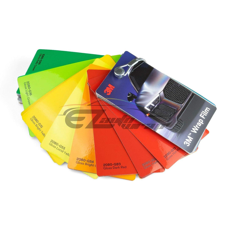 EZAUTOWRAP Newest 3M 1080 2080 Sample Swatch Deck Book Wrap Vinyl Film Carbon Fiber Matte Gloss