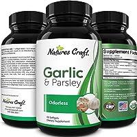 Garlic Supplement Odorless Immunity Vitamins - Garlic Pills Odorless Heart Health and Immune Support Formula - Odorless Garlic and Parsley Pills Plus Natural Weight Supplements for Women and Men