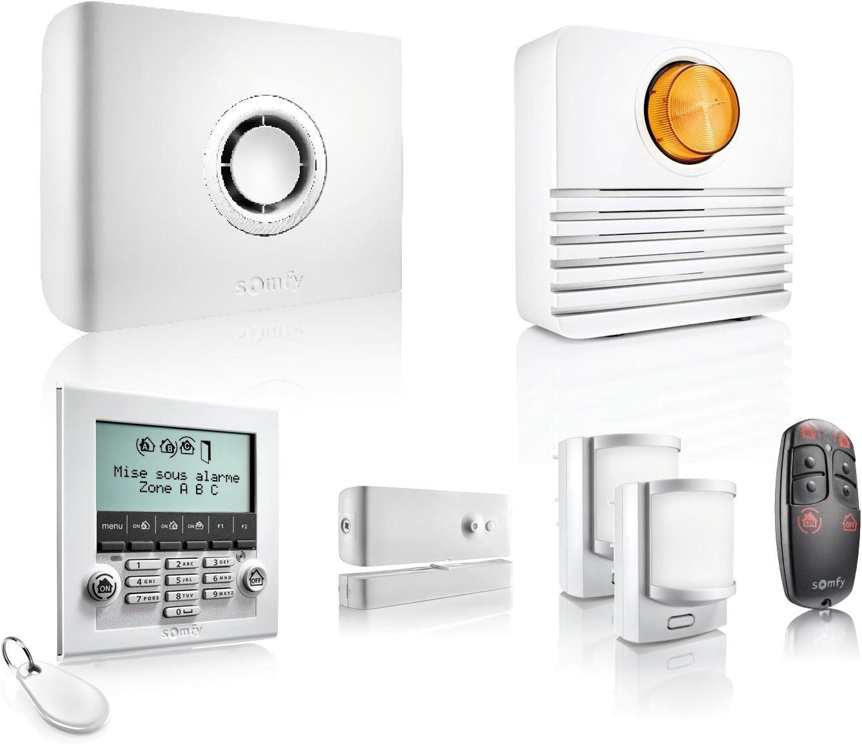 Somfy 2401427 - Protexiom ultimate GSM , alarma para casa , inalámbrico con notificación GSM , Incluye teclado y sirena exterior