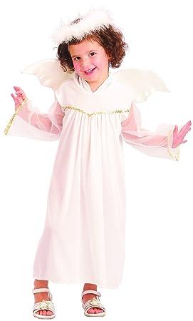 Disfraz de ángel blanco niña - De 3 a 4 años: Amazon.es ...