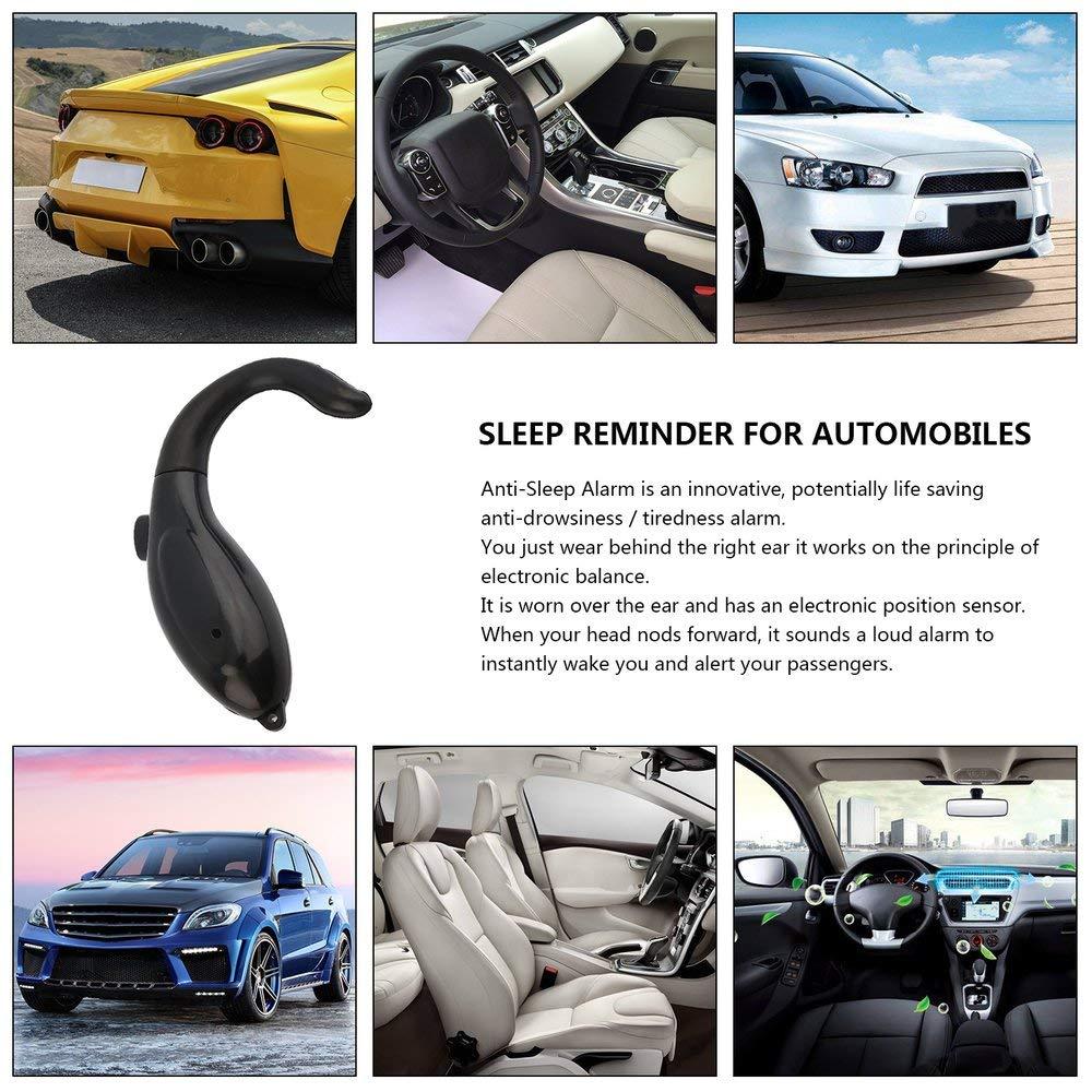 DGdolph Anti-Sleep Alarm Drive Alert Driver Awake Driver Alarm Cool Gadget Truck Tool Black
