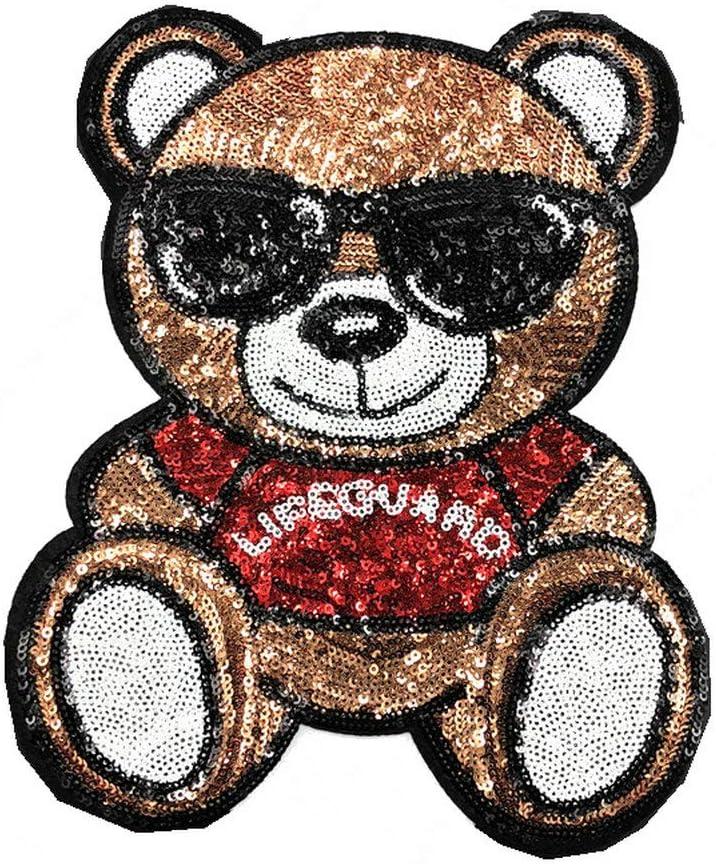 Parche de lentejuelas con diseño de oso de panda de dibujos ...