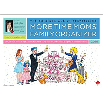 more time moms 2019 family organizer wall calendar sept 2018 to dec 2019