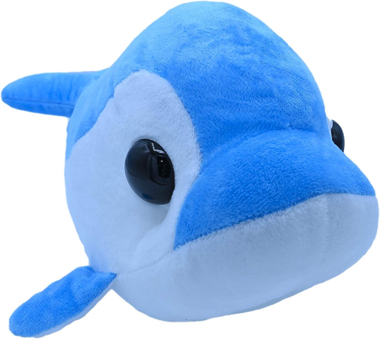 ML Peluche la Ballena Azul de 42cm Juguete De Peluche Interactivo para Bebe, De Dibujos Animados Suaves Muñeca Rellena Siesta Almohada Regalo De Cumpleaños para niños y niñas Amantes (Ballena Azul)