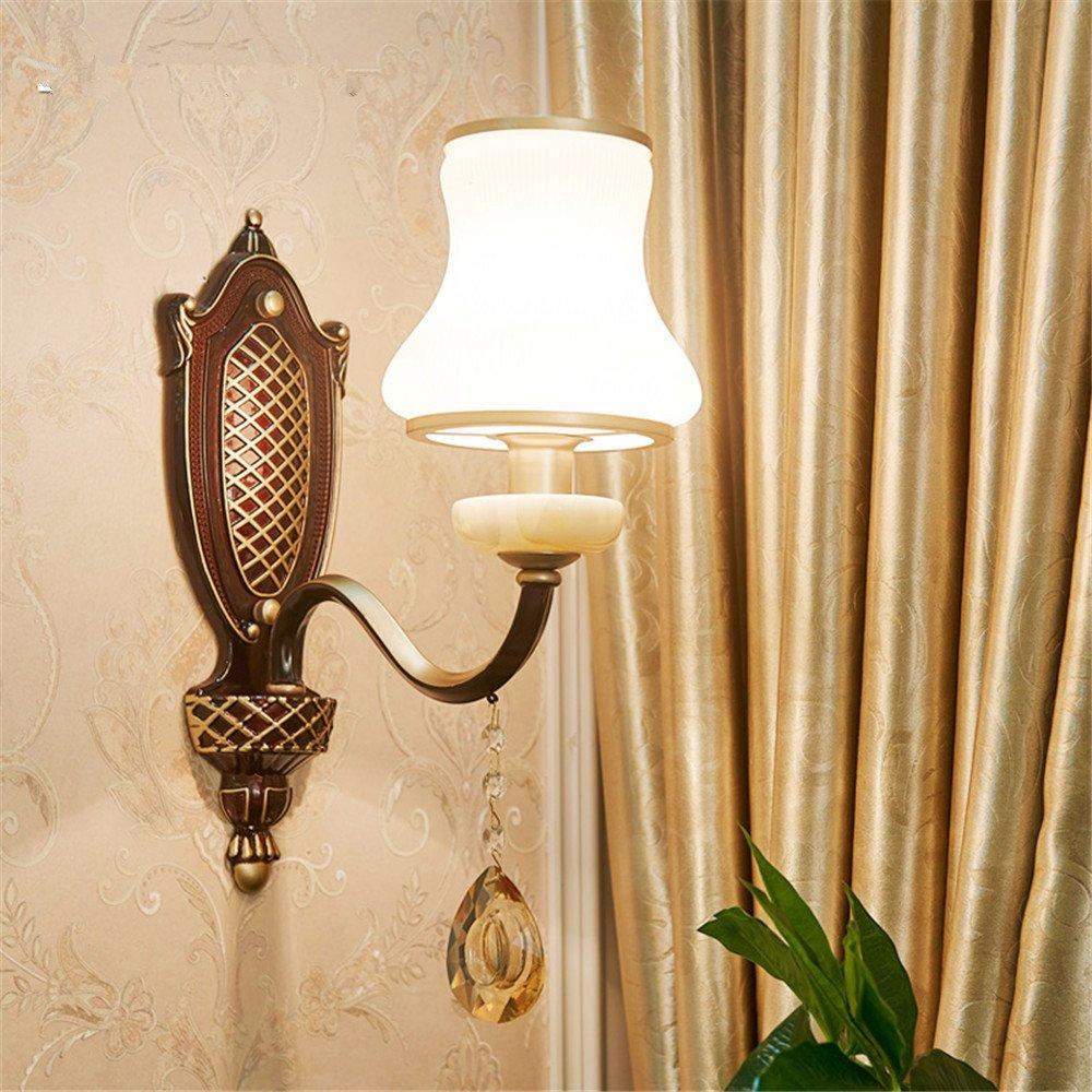 MMYNL Moderne E27 Antik Wandlampe Vintage Wandlampen Wandleuchten für Schlafzimmer Wohnzimmer Bar Flur Bad Küche Balkon Study Room 15  37CM Wandleuchte