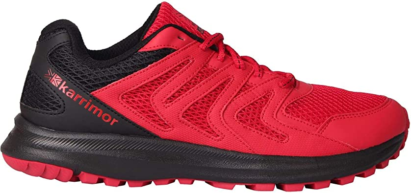 Karrimor Hombre Caracal Zapatillas De Trail Running Rojo/Negro EU 43 (UK 9): Amazon.es: Zapatos y complementos