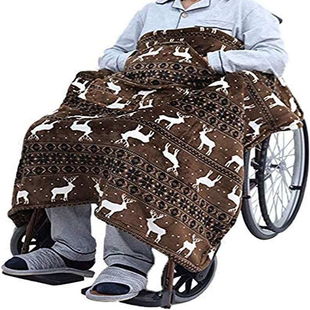 SHRFC Manta para Silla de Ruedas, Mantas de Regazo para Ancianos, Suave, acogedora, cálida despacho de Vacaciones para Ancianos, discapacitados o Personas en la Oficina
