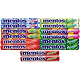 Mentos Variety Pack 14 Count (2 Of Each Flavor) The Chewy Mint Sampler/Bundle - Includes (14) 1.32oz Rolls Mint, Cinnamon, Strawberry, Spearmint, Green Apple, Fruit and Rainbow
