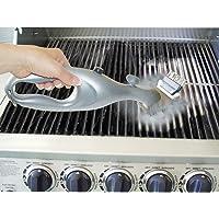 PePeng Spazzola triangolare di metallo per pulizia griglia del barbecue, 45,7cm, setole in acciaio inox a 3 rami, resistente, per una pulizia più facile ed efficace