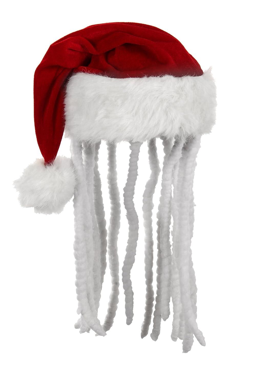 bbda67c8545 Elope dread santa hat multi colored one size clothing jpg 1000x1500  Christmas hat with dreadlocks