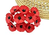NAVA CHIANGMAI 50 pcs Red Poppy Mulberry Paper