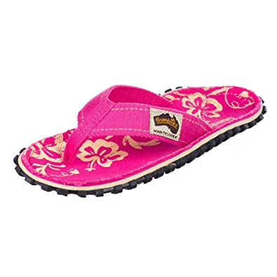 f8bcd4f193d6bf Gumbies Islander Pink Hibiscus Women s Canvas Flip Flops