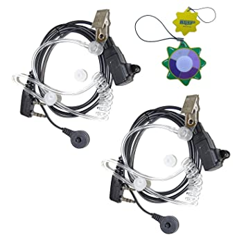 HQRP Dos 2-Pin Micro-Auriculares Micrófonos Tubo Acústico para Kenwood TK-3360 / TK-3400 / TK-3402 / TK-5220 Talkie-Walkie + HQRP medidor del sol: ...