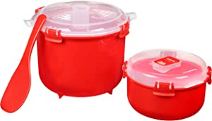 Sistema BPA-Free Rice Cooker (2.6L) & Round Microwave Food Container (915ml)