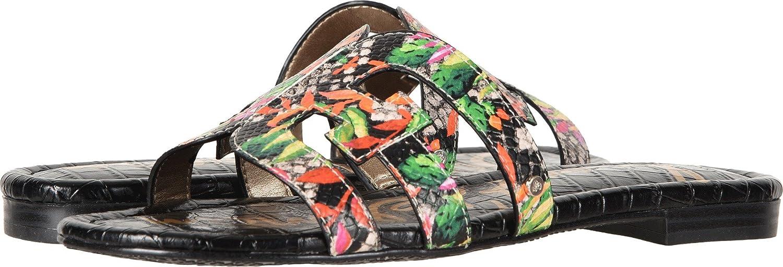 Sam Edelman Women's Bay Slide Sandal B0762T7QMT 8.5 W US Bright Multi Blooming Cactus Shiny Burmese