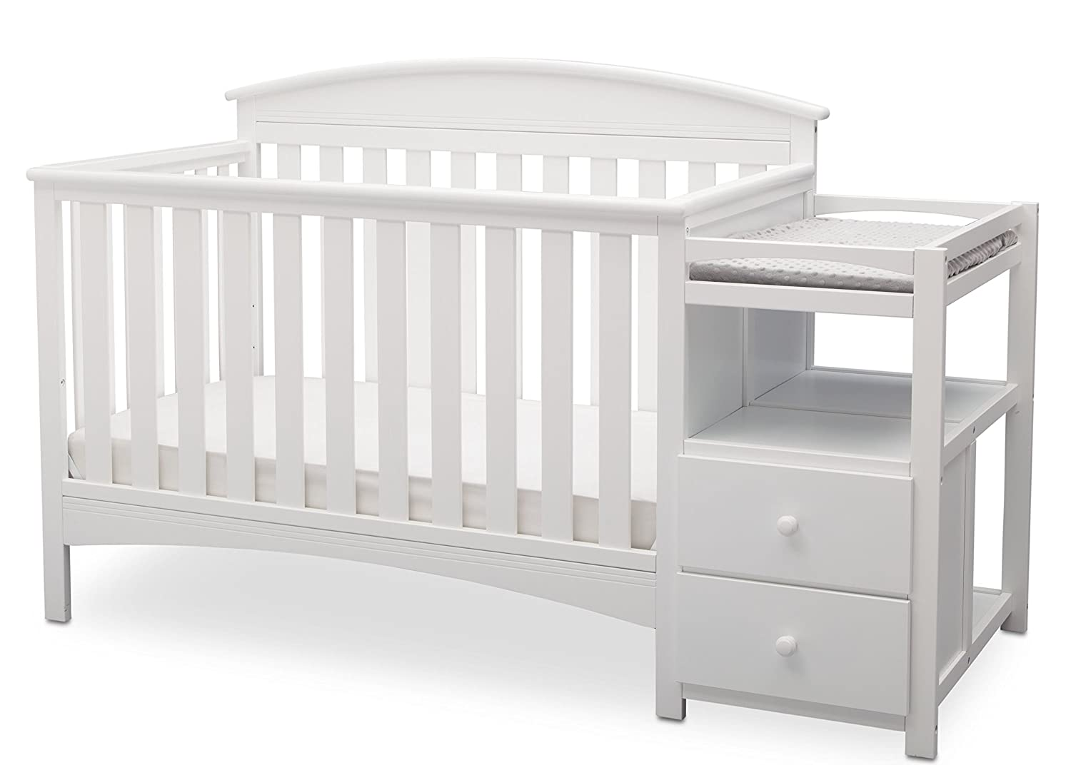 Delta Children Abby Convertible Crib 'N' Changer, Bianca 530160-130
