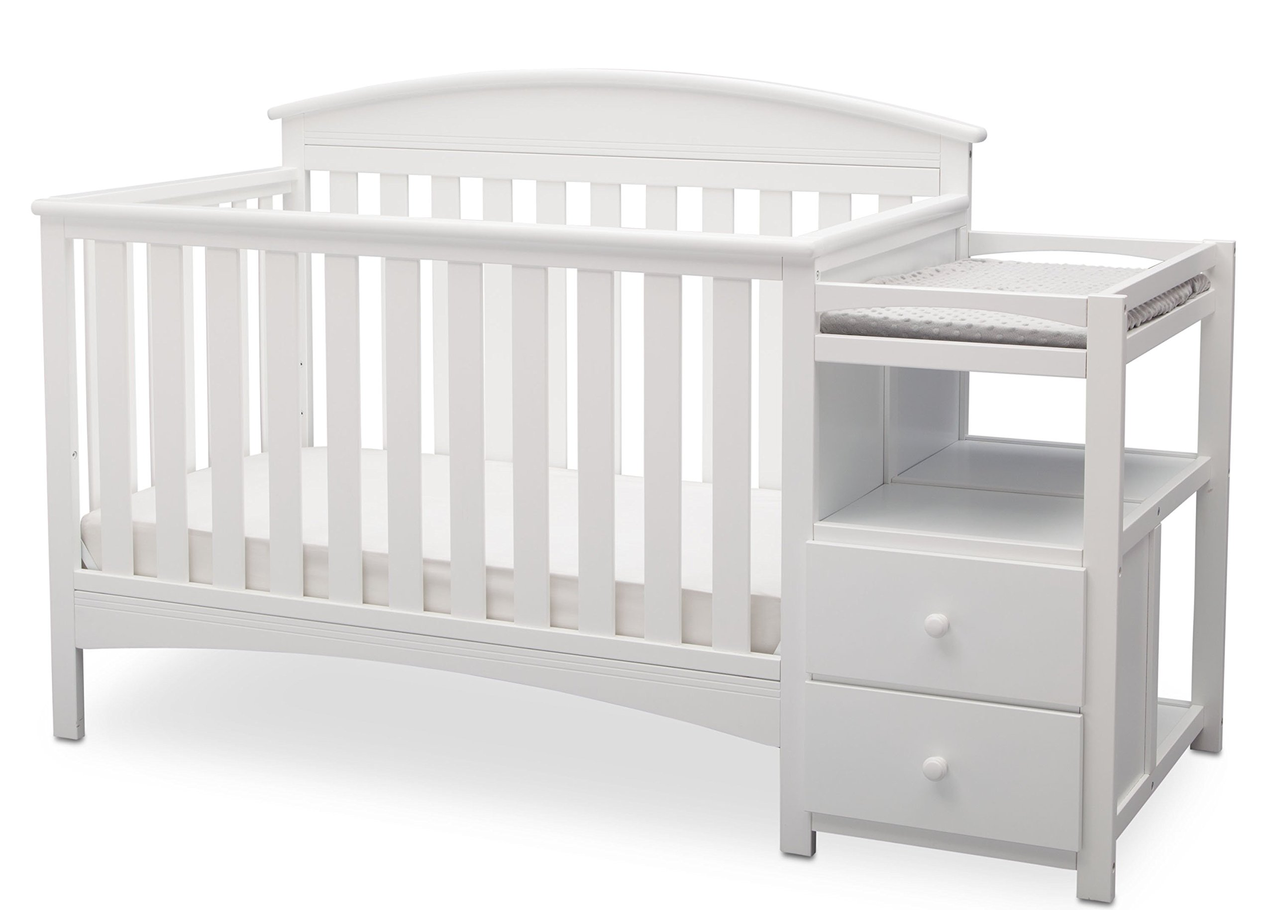 Delta Children Abby Convertible Crib 'N' Changer, Bianca