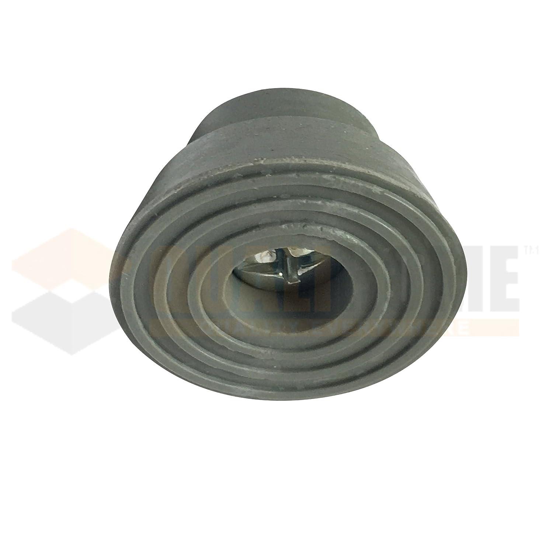 Replacement Rubber Tip for Kickdown/Drop Down Door Stop Holder, Grey, 10  Pack