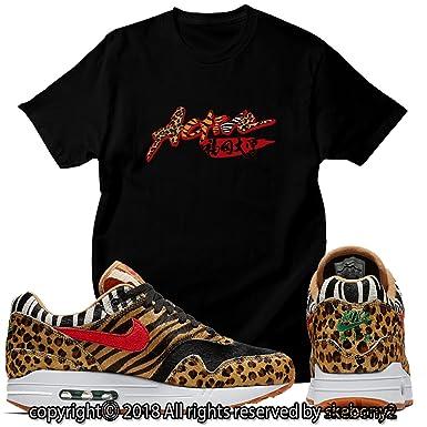 best service c1a5d 1eb6b Custom T Shirt Matching Atmos x Nike Air Max 1 Animal Pack 2.0 AM1-1