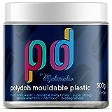 Polydoh mouldable plastic WHITE/NATURAL 500g [like polymorph, plastimake, instamorph]