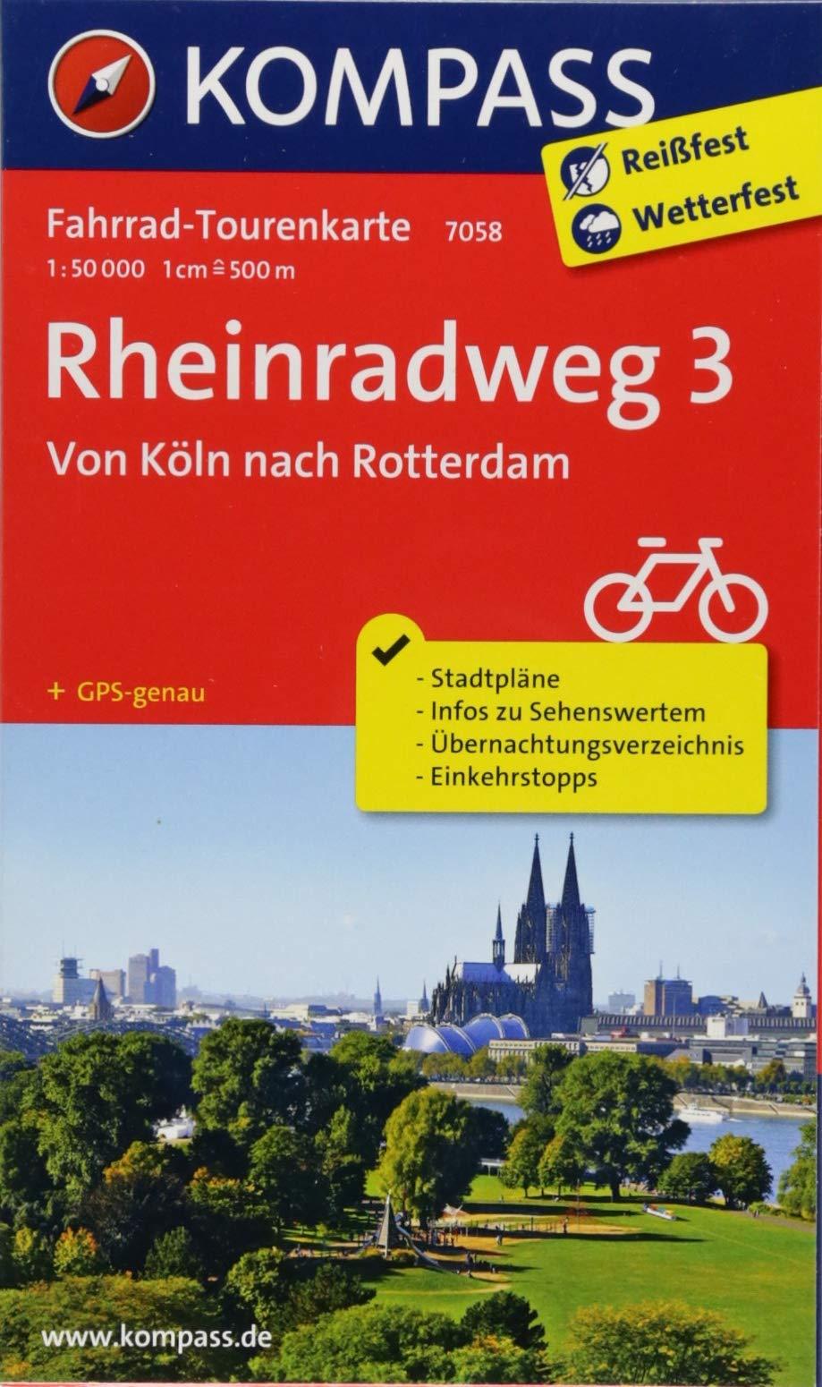 Rheinradweg 3, Von Köln nach Rotterdam: Fahrrad-Tourenkarte. GPS-genau. 1:50000. (KOMPASS-Fahrrad-Tourenkarten, Band 7058)