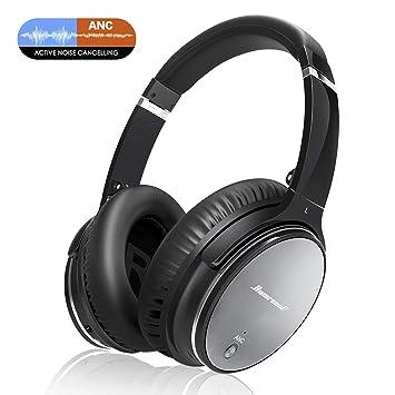 81d800ebec0 Auriculares Bluetooth FITFORT Cascos Inalámbricos de Diadema con Bluetooth  4.1, Cancelación Activa de Ruido, Plegable con Estéreo, Micrófono  Incorporado ...