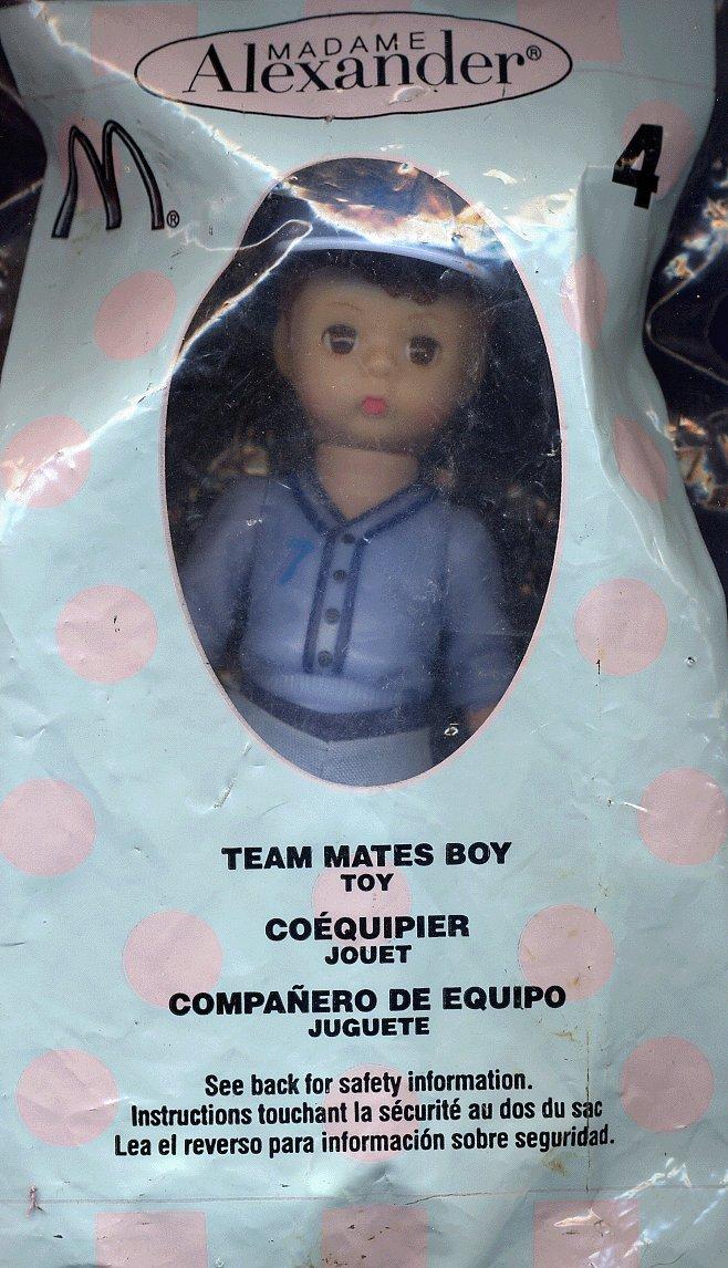 2005 TEAM MATES BOY #4 MADAME ALEXANDER DOLL MCDONALD'S HAPPY MEAL