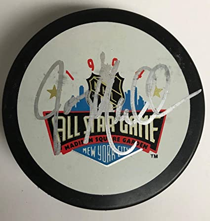 Joe Mullen Autographed Puck - authentic 1994 All Star logo ... de5a2823f