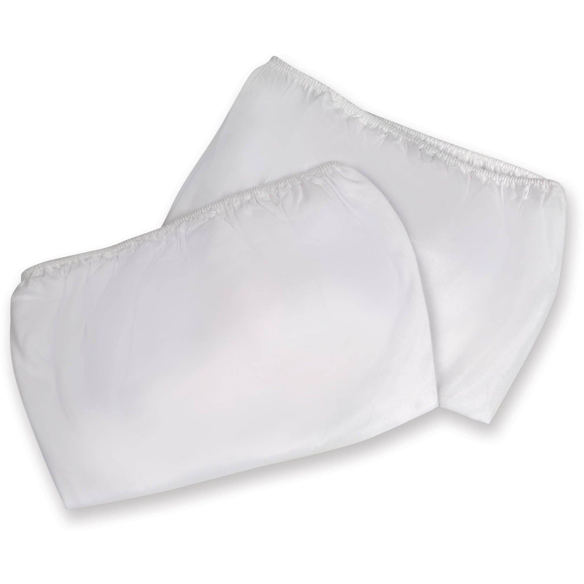 Badger Basket 2 Piece Fitted Bassinet Sheets for Majesty Baby Bassinets, White