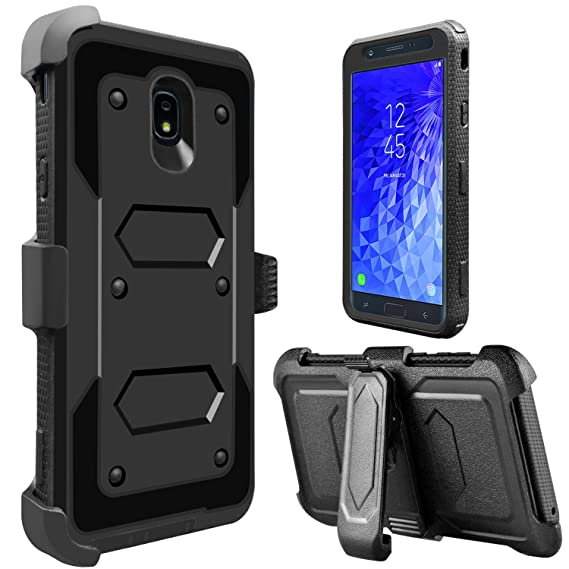 official photos 9cc77 31e64 Tevero Hard Galaxy J7 Star Case, Galaxy J7 V 2018 Case, Galaxy J7 Refine  Case, [Holster Series] Shockproof Case [Kickstand] [Belt Swivel Clip] ...