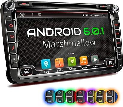 XM-2DA801 Radio de Coche Adecuado para VW Seat Skoda I con Android 6.0.1 I