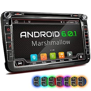 XM-2DA801 Radio de Coche Adecuado para VW Seat Skoda I con Android 6.0.