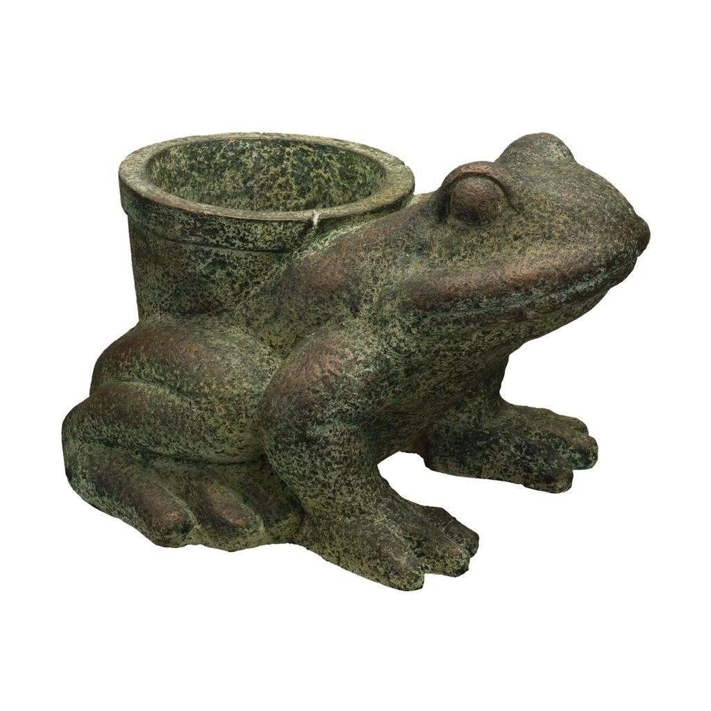 Regal Art & Gift Frog 15.5 inches x 13 inches x 10.25 inches Magnesium Oxide Planter - Outdoor Home Decor