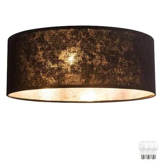 plafoniera paralume in tessuto lampade camera da letto della lampada ...