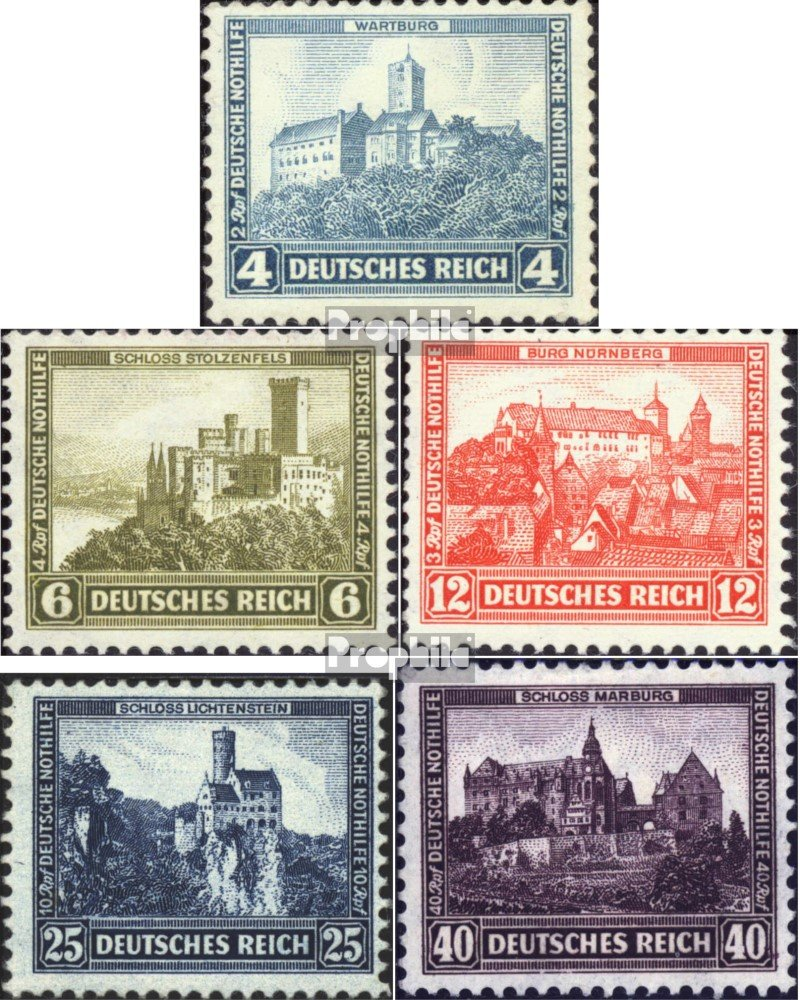 Prophila sellos para coleccionistas: alemán Imperio 474-478 (completa.edición.) nuevo con goma original 1932 castillos y castillos