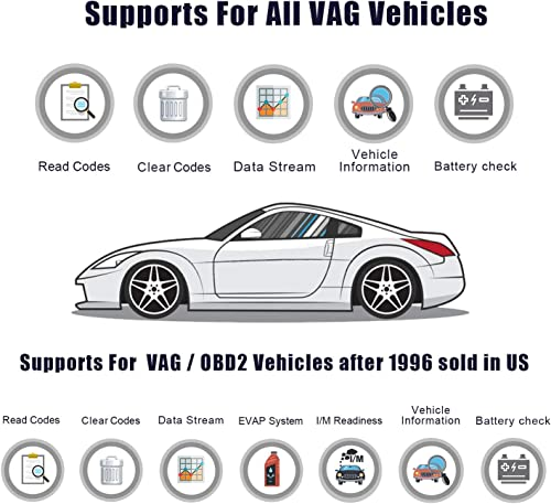ANCEL VD700 All System OBD2 Scanner with 8 Special Functions for VAG Vehicles Diagnosis Code Reader Oil TPMS EPB TPS Reset Injector Adaption Steering Angle