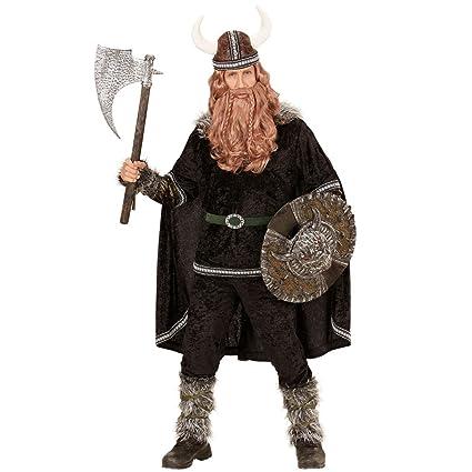 Traje Hombre Bárbaro - S (ES 48)   Disfraz Vikingo   Ropa Carnaval Normando   Disfraz Varón Medieval