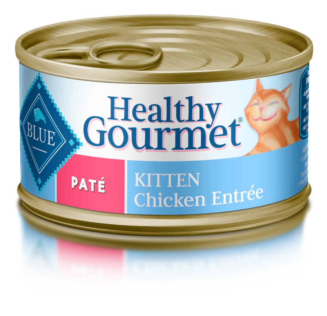 Blue Buffalo Healthy Gourmet Natural Kitten Pate Wet Cat Food, Chicken 3-oz Cans (Pack of 24) by Blue Buffalo