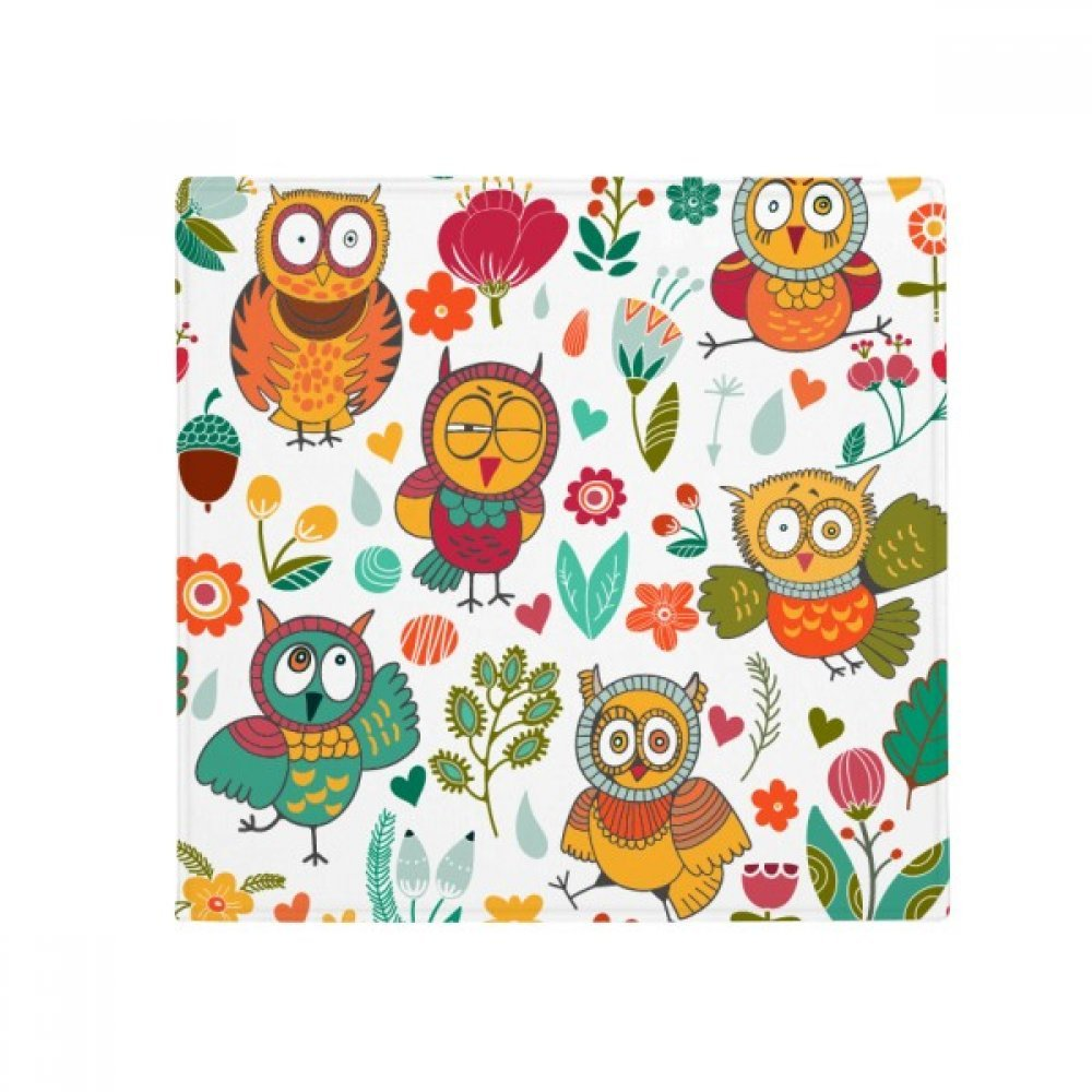 DIYthinker Flowers Plants Owls Hand Painting Drawing Anti-Slip Floor Pet Mat Square Home Kitchen Door 80Cm Gift