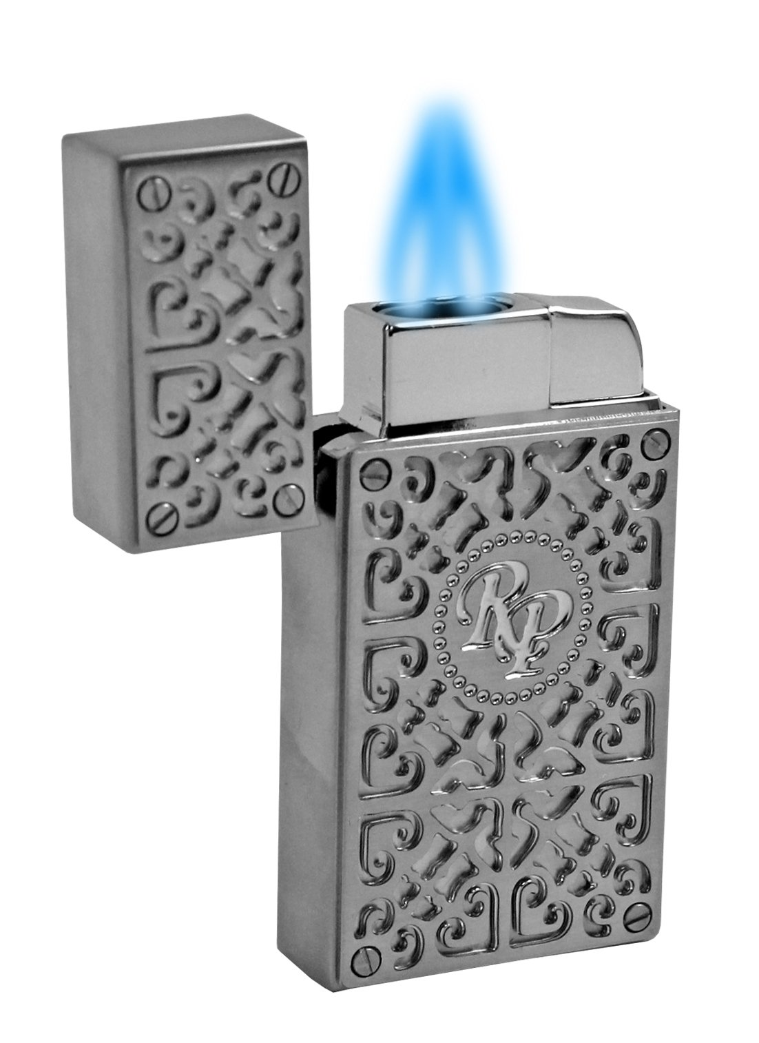 Rocky Patel Burn Collection Torch Lighter - Chrome with Chrome by Rocky Patel