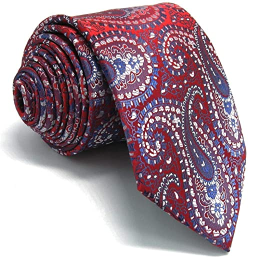 f31f5820d6 Image Unavailable. Image not available for. Color: Shlax&Wing Mens Ties for Men  Red Paisley ...