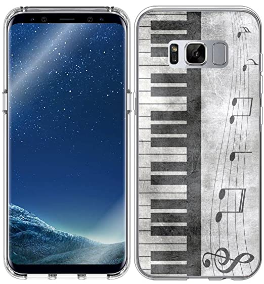 Case for S8 Plus Music/IWONE Compatible Protector Cover Skin Protective  Protector TPU Rubber Clear Replacement for Samsung Galaxy S8 Plus + Retro