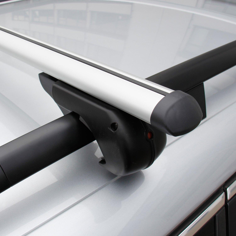 Cartrend 401MW000 Barre portapacchi M-Way Eagle in alluminio con certificazione T/ÜV-GS richiudibile portata massima 90 kg
