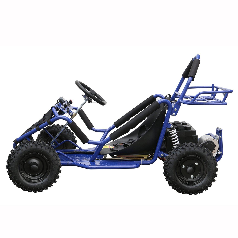 JCMOTO Upgraded Electric Go Karts 4 Four Wheelers For Kids 48v 1800w (Blue)