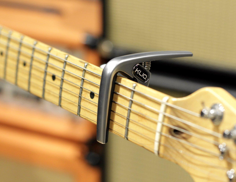 KLIQ K-PO Cejilla para guitarras acústicas y eléctricas 6 cuerdas, Satin Silver: Amazon.es: Instrumentos musicales